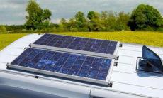 pannelli solari montati su camper